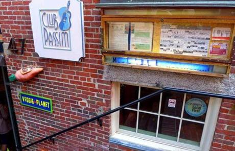 Club Passim in Cambridge is an acoustic music venue.